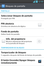 Activa o desactiva el uso del código de seguridad - LG Optimus G Pro Lite - Passo 10