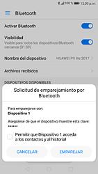 Conecta con otro dispositivo Bluetooth - Huawei P9 Lite 2017 - Passo 6