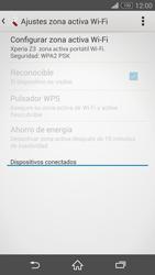 Configura el hotspot móvil - Sony Xperia Z3 D6603 - Passo 11