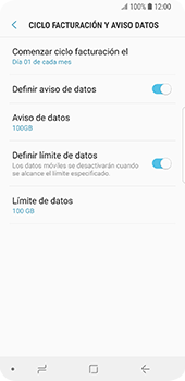 Desactivación límite de datos móviles - Samsung Galaxy S9 - Passo 7