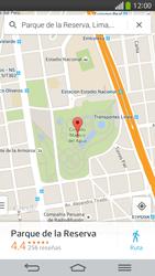 Uso de la navegación GPS - LG G Flex - Passo 9