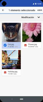 Envía fotos, videos y audio por mensaje de texto - Motorola One Vision (Single SIM) - Passo 17