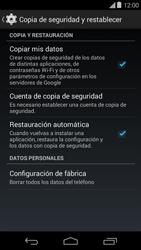 Restaura la configuración de fábrica - Motorola Moto E (1st Gen) (Kitkat) - Passo 5