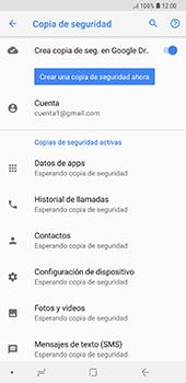 Realiza una copia de seguridad con tu cuenta - Samsung A7 2018 - Passo 11