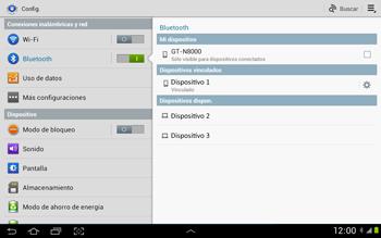 Conecta con otro dispositivo Bluetooth - Samsung Galaxy Note 10-1 - N8000 - Passo 8