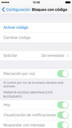 Activa o desactiva el uso del código de seguridad - Apple iPhone 5c - Passo 3