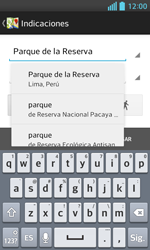 Uso de la navegación GPS - LG Optimus L5 II - Passo 12