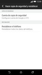 Restaura la configuración de fábrica - HTC One M8 - Passo 5
