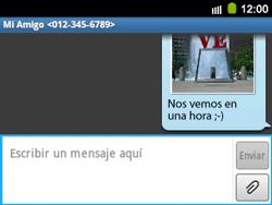 Envía fotos, videos y audio por mensaje de texto - Samsung Galaxy Y Pro GT - B5510 - Passo 16