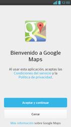 Uso de la navegación GPS - LG Optimus G Pro Lite - Passo 4