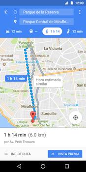 Uso de la navegación GPS - Motorola Moto G6 Plus - Passo 15