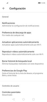 Cambiar configuración de actualizaciones de aplicaciones - Huawei Nova 5T - Passo 6