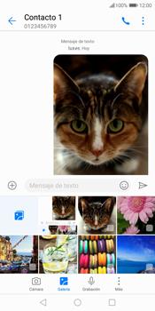 Envía fotos, videos y audio por mensaje de texto - Huawei Y7 (2018) - Passo 17
