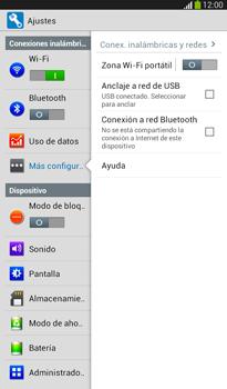 Configura el hotspot móvil - Samsung Galaxy Tab 3 7.0 - Passo 6