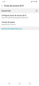 Configura el hotspot móvil - LG K40S - Passo 5