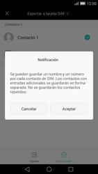 ¿Tu equipo puede copiar contactos a la SIM card? - Huawei Ascend Mate 7 - Passo 9