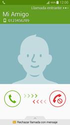 Contesta, rechaza o silencia una llamada - Samsung Galaxy A5 - A500M - Passo 5