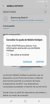 Configura el hotspot móvil - Samsung Galaxy Note 8 - Passo 13