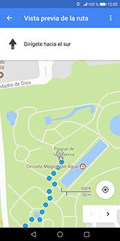 Uso de la navegación GPS - Huawei Mate 10 Pro - Passo 17