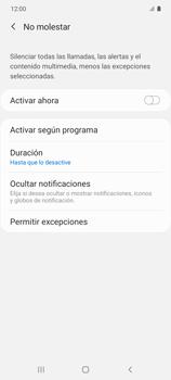 Cómo configurar el modo no molestar - Samsung Galaxy S10 Lite - Passo 14