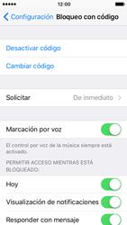 Activa o desactiva el uso del código de seguridad - Apple iPhone 5c - Passo 6
