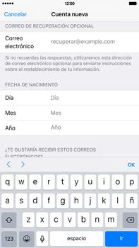 Crea una cuenta - Apple iPhone 6 Plus - Passo 13