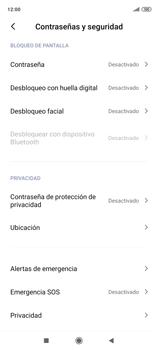 Habilitar seguridad de huella digital - Xiaomi Redmi Note 9 Pro - Passo 4