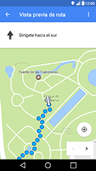 Uso de la navegación GPS - LG X Power - Passo 18