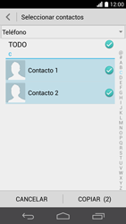 ¿Tu equipo puede copiar contactos a la SIM card? - Huawei Ascend P6 - Passo 9