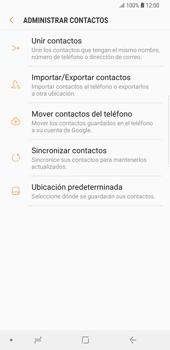 ¿Tu equipo puede copiar contactos a la SIM card? - Samsung Galaxy S9 Plus - Passo 7