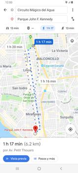 Uso de la navegación GPS - Samsung Galaxy A80 - Passo 16