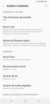 Activa o desactiva el uso del código de seguridad - Samsung Galaxy Note 9 - Passo 11