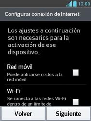 Activa el equipo - LG Optimus L3 II - Passo 4