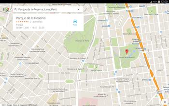 Uso de la navegación GPS - Samsung Galaxy Note Pro - Passo 9