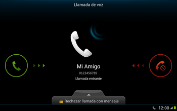 Contesta, rechaza o silencia una llamada - Samsung Galaxy Note 10-1 - N8000 - Passo 5