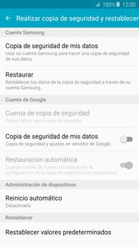 Restaura la configuración de fábrica - Samsung Galaxy Note 5 - N920 - Passo 5