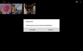 Transferir fotos vía Bluetooth - Samsung Galaxy Note Pro - Passo 9