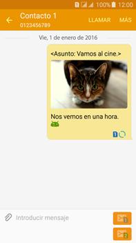 Envía fotos, videos y audio por mensaje de texto - Samsung Galaxy J7 - J700 - Passo 25