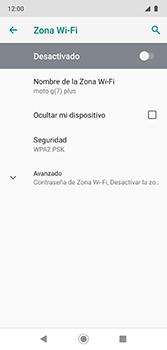 Configura el hotspot móvil - Motorola Moto G7 Plus - Passo 7