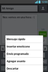 Envía fotos, videos y audio por mensaje de texto - LG L4 II - Passo 9