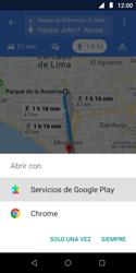 Uso de la navegación GPS - Motorola Moto E5 Play - Passo 16