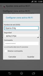 Configura el hotspot móvil - Sony Xperia E 4G - Passo 8