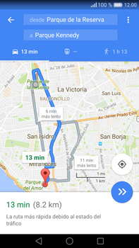 Uso de la navegación GPS - Huawei Mate 8 - Passo 15