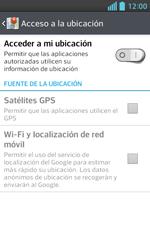 Uso de la navegación GPS - LG Optimus L5 II - Passo 7