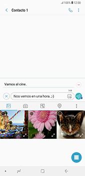 Envía fotos, videos y audio por mensaje de texto - Samsung A7 2018 - Passo 14