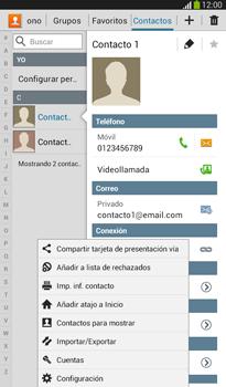 ¿Tu equipo puede copiar contactos a la SIM card? - Samsung Galaxy Tab 3 7.0 - Passo 5