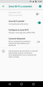 Configura el hotspot móvil - Motorola Moto G6 Plus - Passo 10