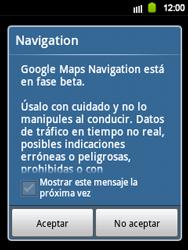 Uso de la navegación GPS - Samsung Galaxy Y  GT - S5360 - Passo 21