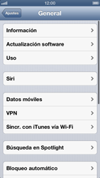 Desactiva tu conexión de datos - Apple iPhone 5 - Passo 3