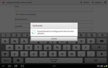 Configura tu correo electrónico - Samsung Galaxy Note 10-1 - N8000 - Passo 17